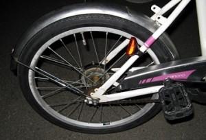 自転車交換後の後輪