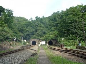 小幌駅全景