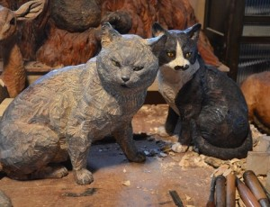 相島の猫の彫刻
