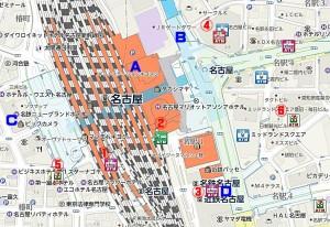 名古屋駅周辺 セブン銀行とゆうちょ銀行ATM設置場所