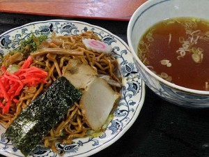 ラーメン風焼きそば(浅野食堂)